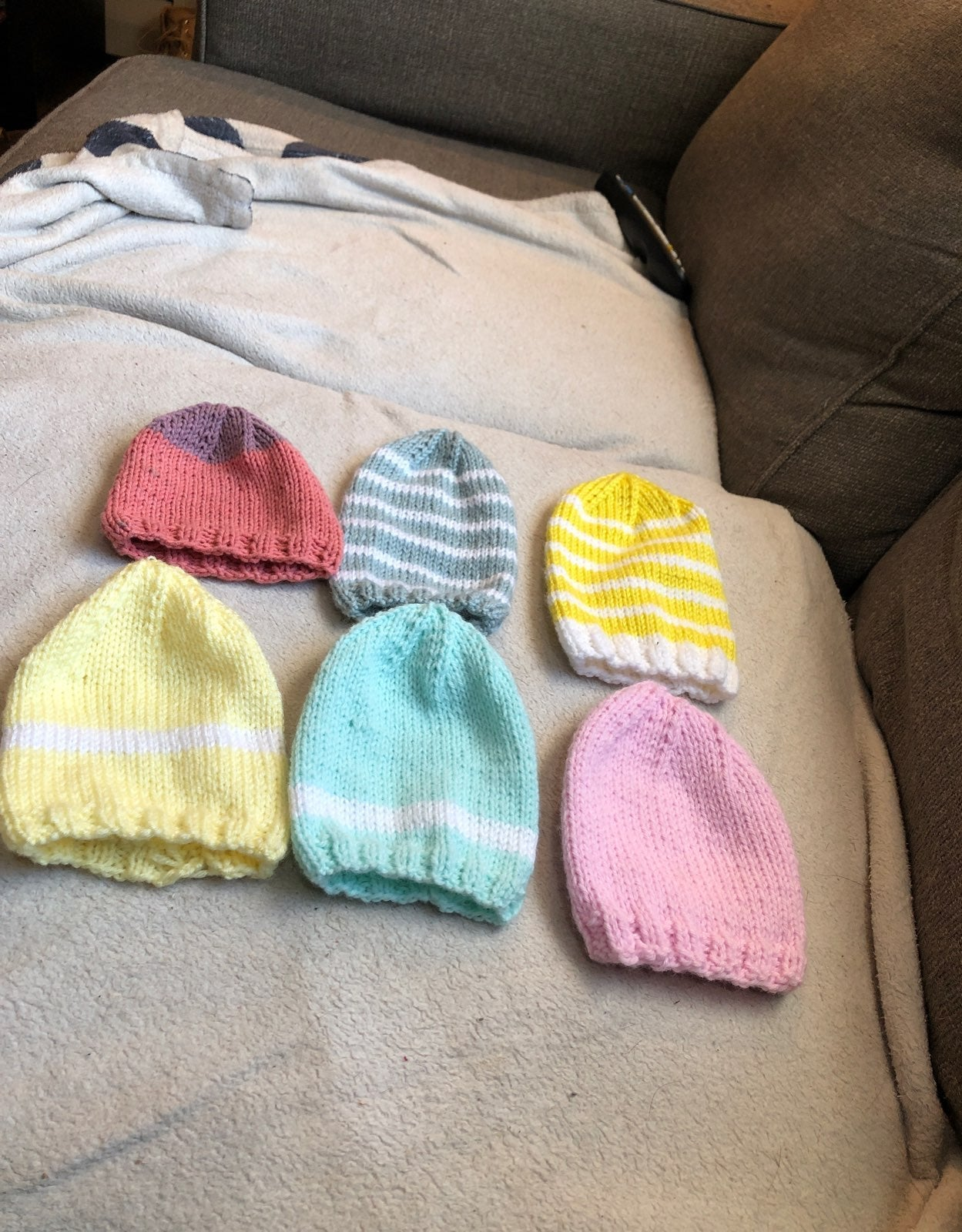 Handmade baby/toddler hats