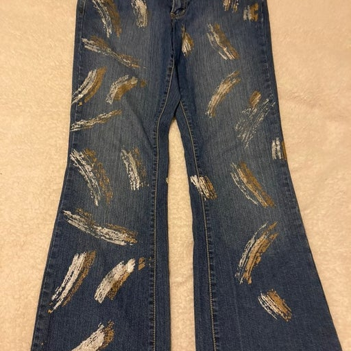 Crest Jeans With paint streaks