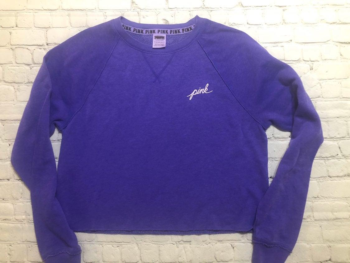 VS PINK Cropped Purple Sweatshirt. XS