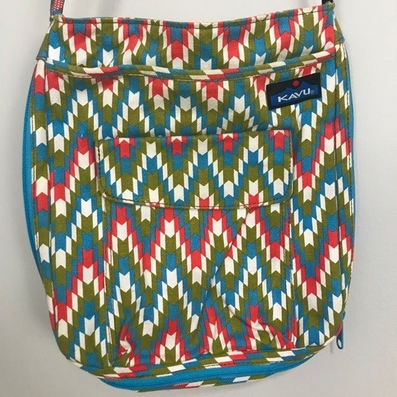 Kavu Crossbody Bag Multi Color Zig Zag