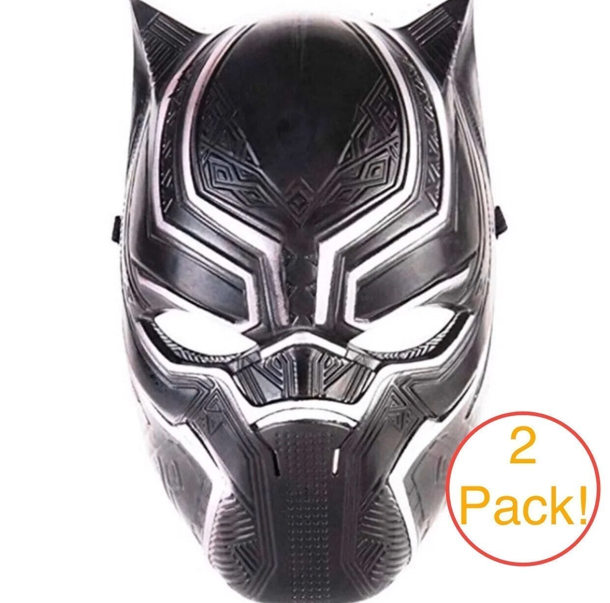 Black Panther Cosplay Paintball Mask 2pk