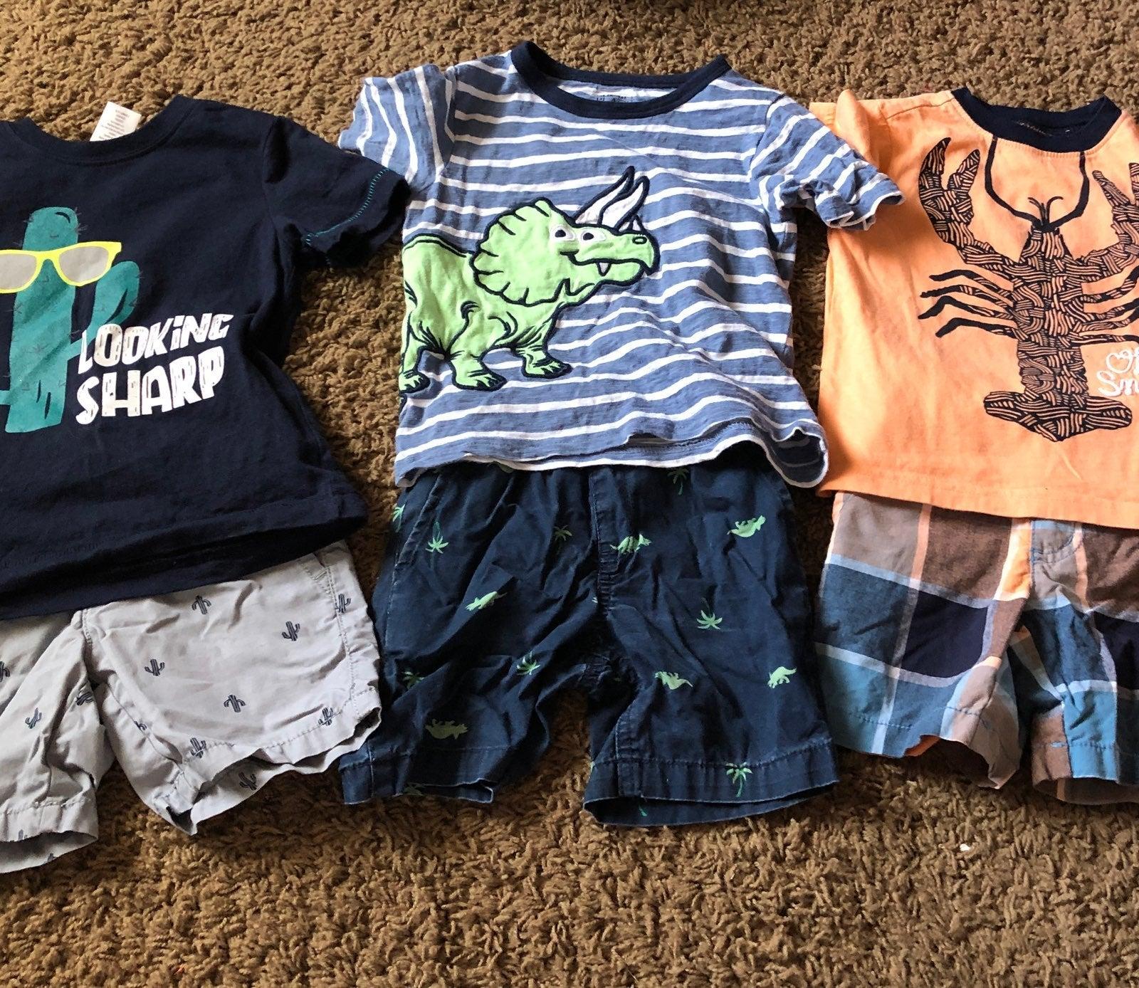 Shirt and short sets gymboree/childrens