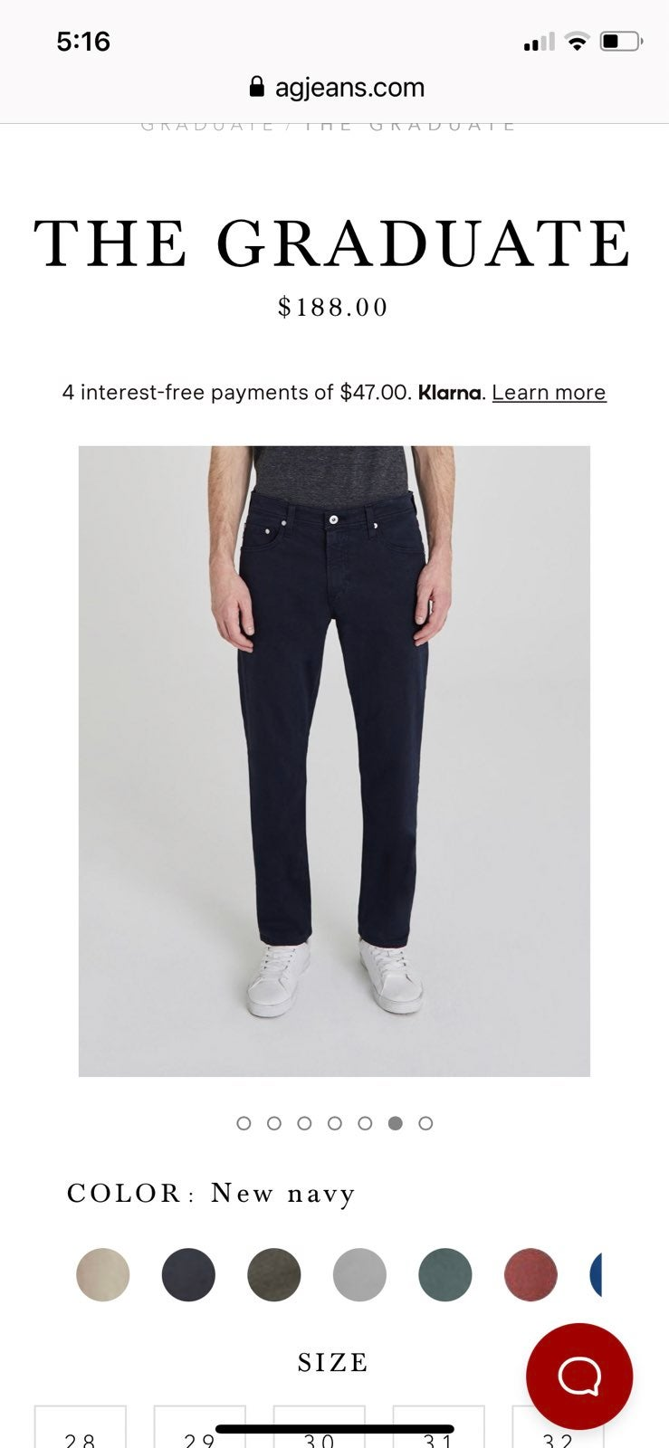 AG Adriano Goldschmied navy blue pants 3