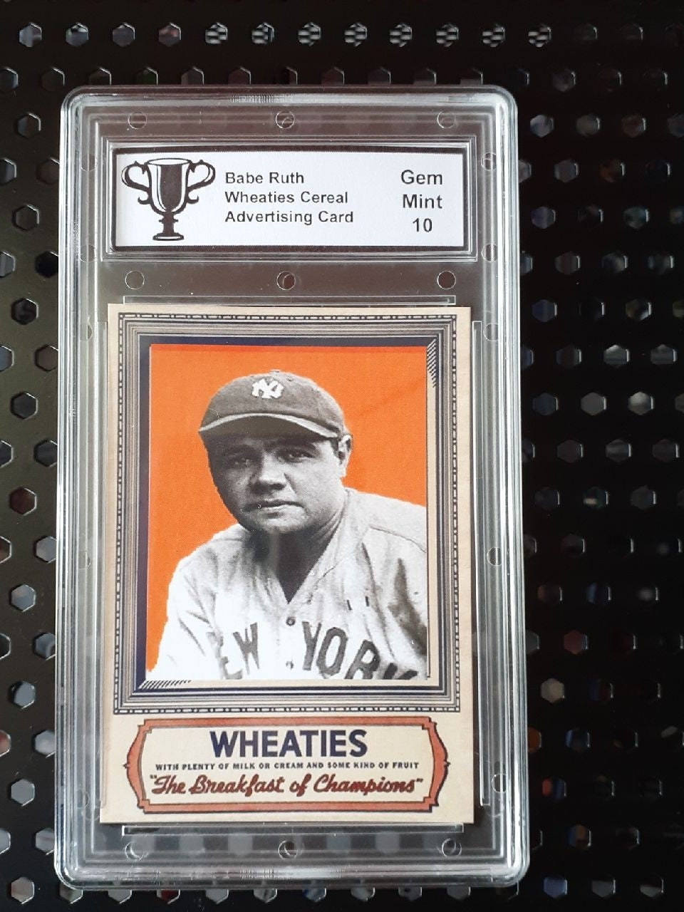 Babe Ruth Wheaties Cereal Card Mint 10