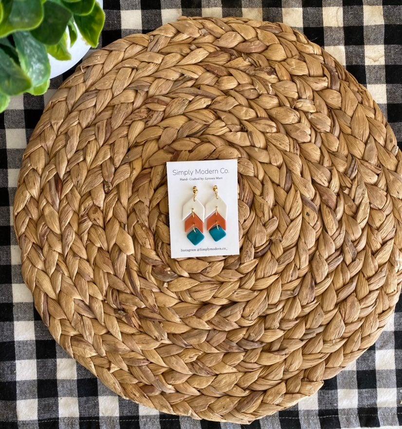 Dangle Clay Earrings