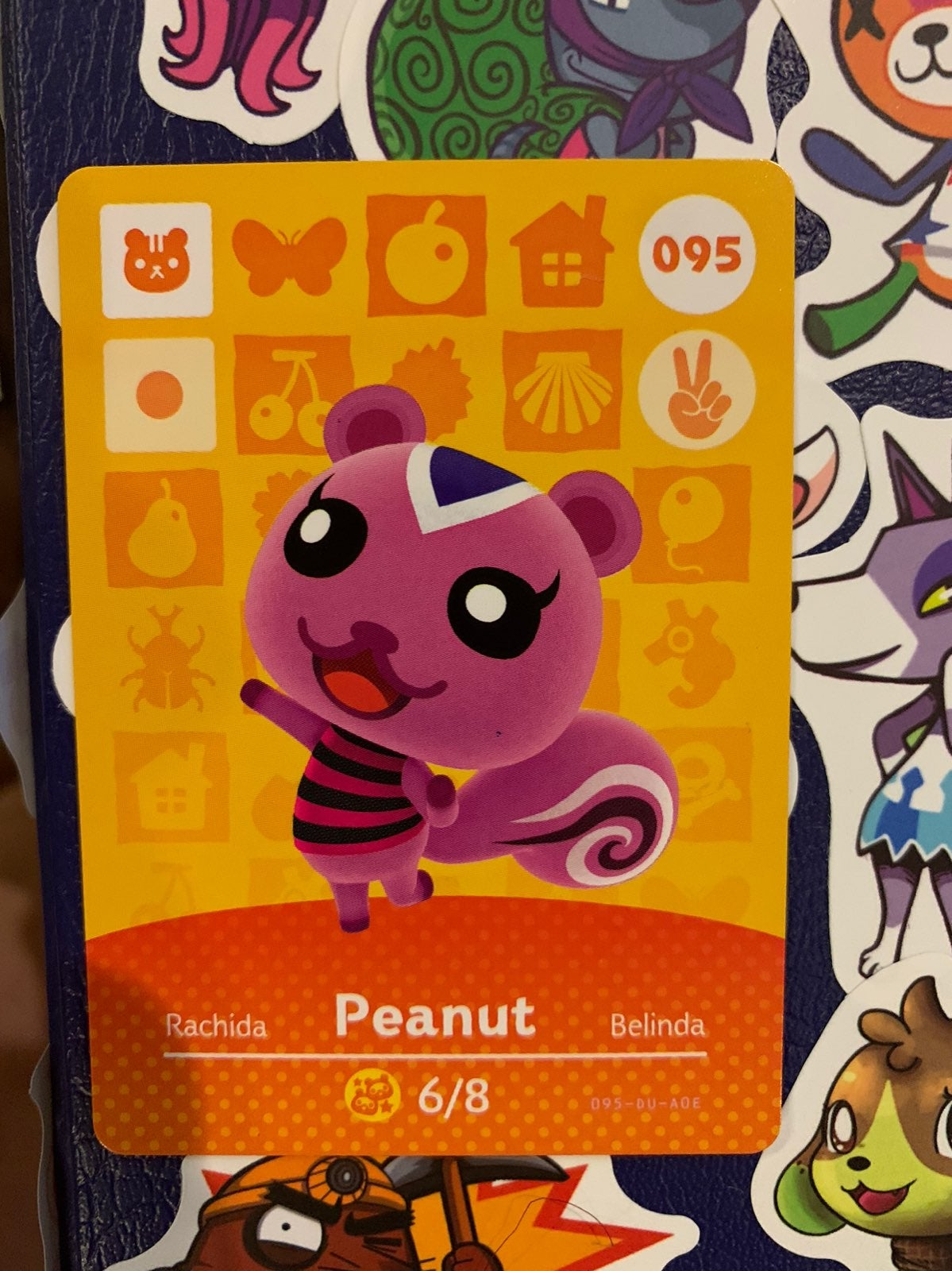 Peanut Animal Crossing Amiibo Card