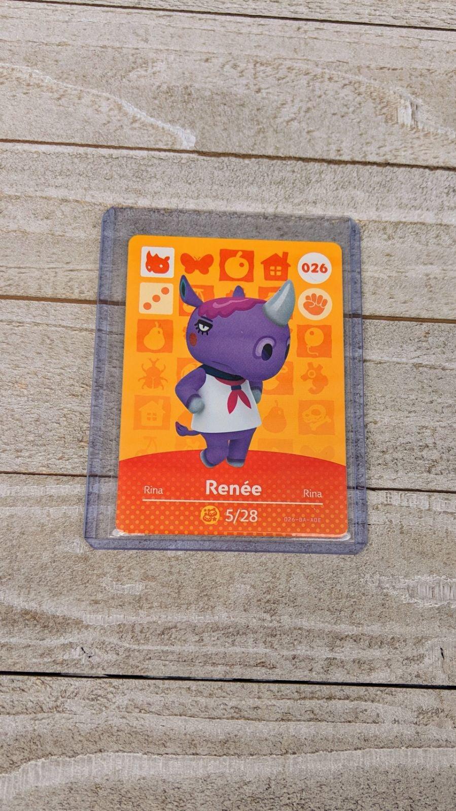 Animal Crossing Amiibo Card Renee