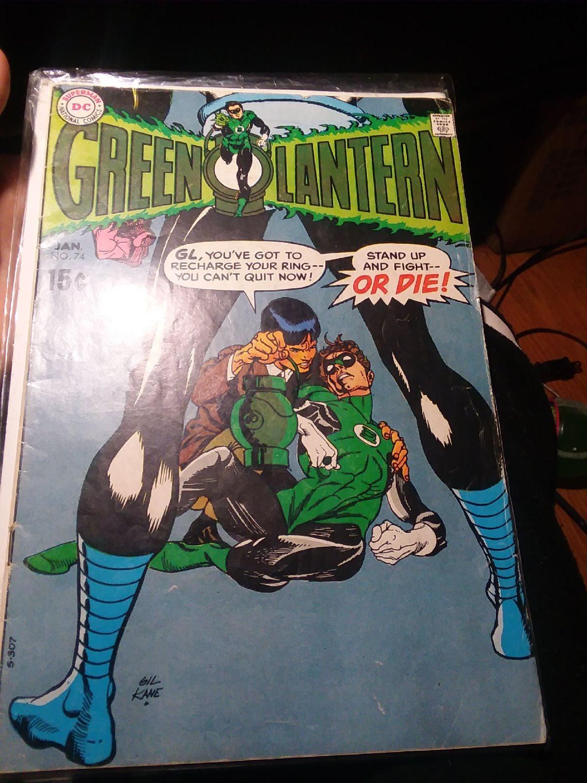 Green lantern #74 comic book