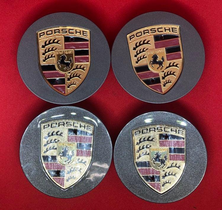 4 center cap gray Porsche 76 mm new