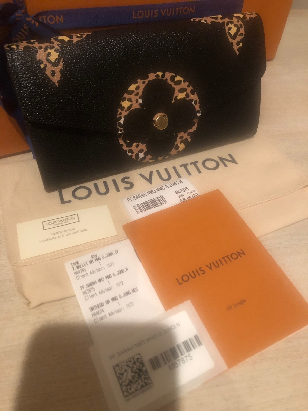 Louis Vuitton Jungle Sarah Wallet