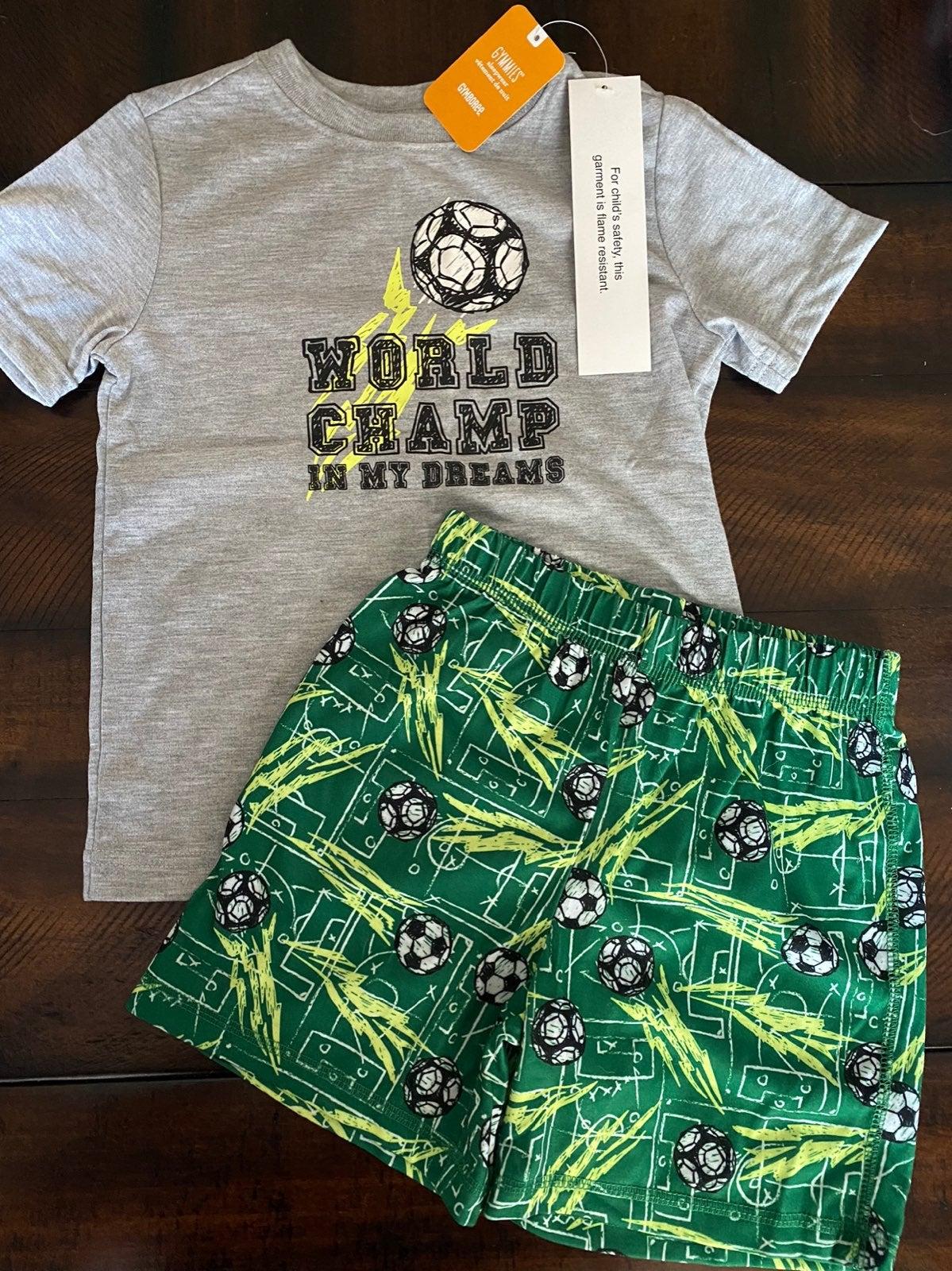 Gymboree Gymmies Soccer Pajamas