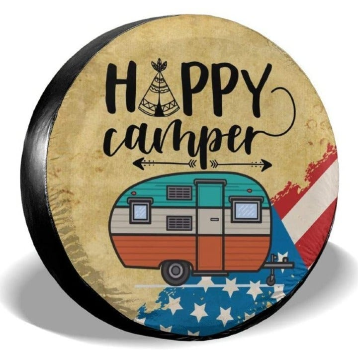 Happy Camper Tire Covers 16 Inch