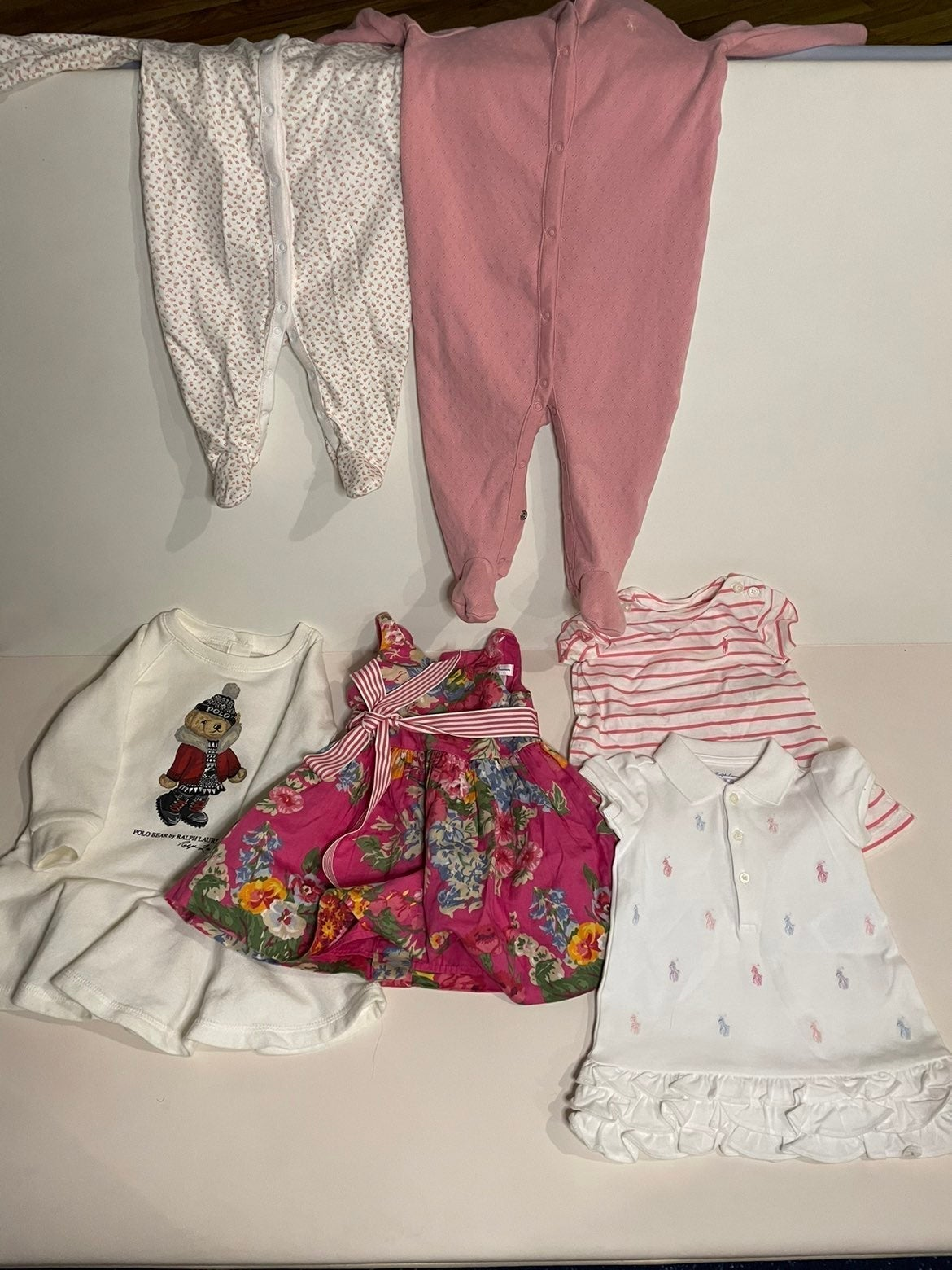 (6pc) Ralph Lauren Baby Girl Bundle 3-9m