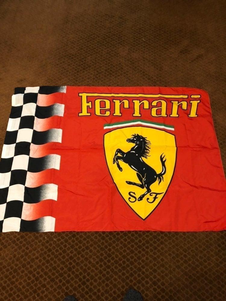 Ferrari Racing Checkered Flag