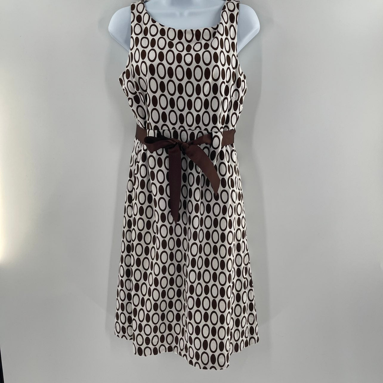 Brown and White Dressbarn Size 8