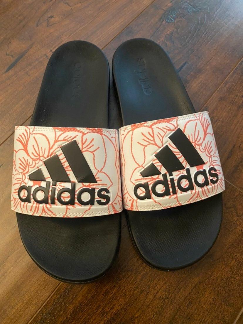 Adidas Womens Adilette Slides size 10