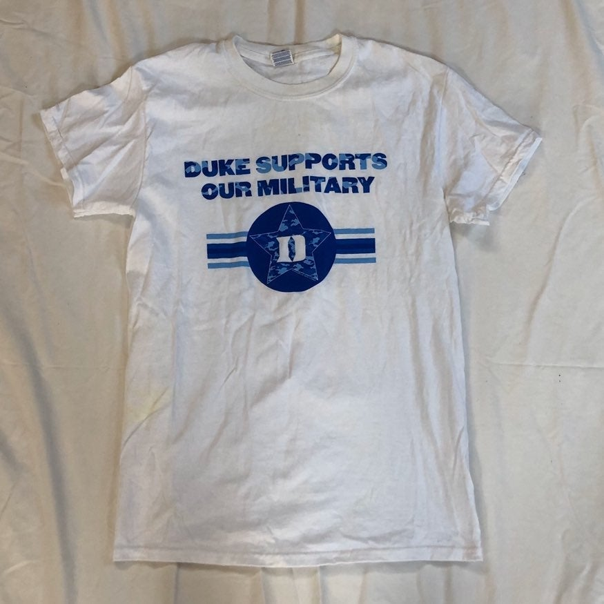 Duke University White T-Shirt Small