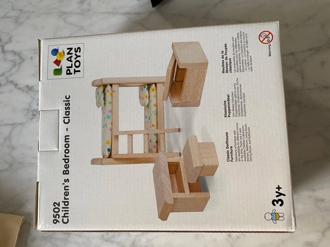 Plan Toys Dollhouse Bedroom Set