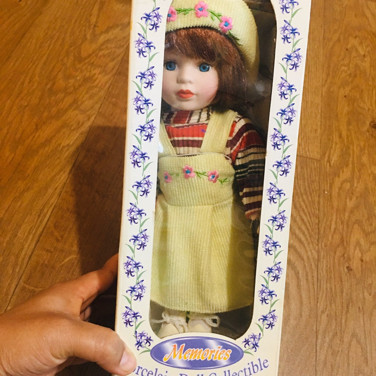 Genuine Porcelain Doll w/Stand collectab