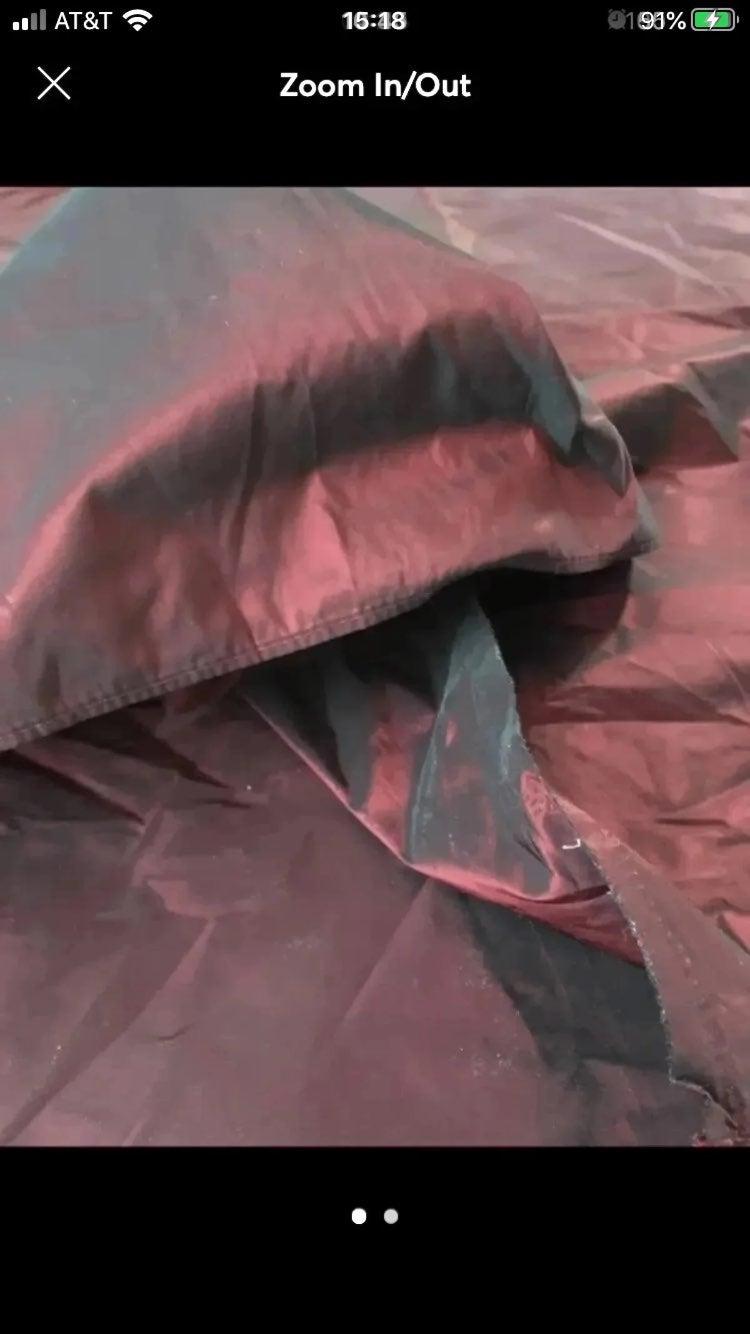 Red & Black Taffeta Fabric