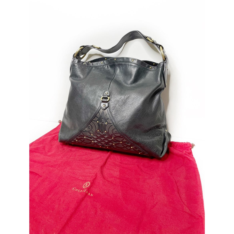 Cole Haan Black Gold stud Leather Bag