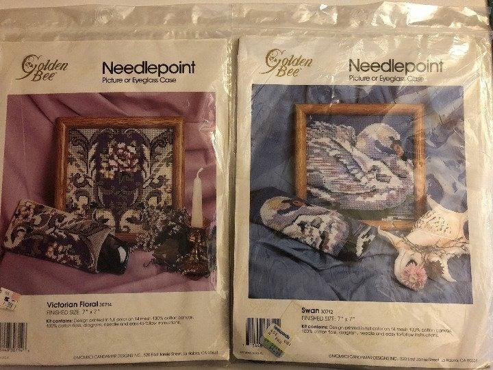 2x Needlepoint Kits Victorian & Swans #4