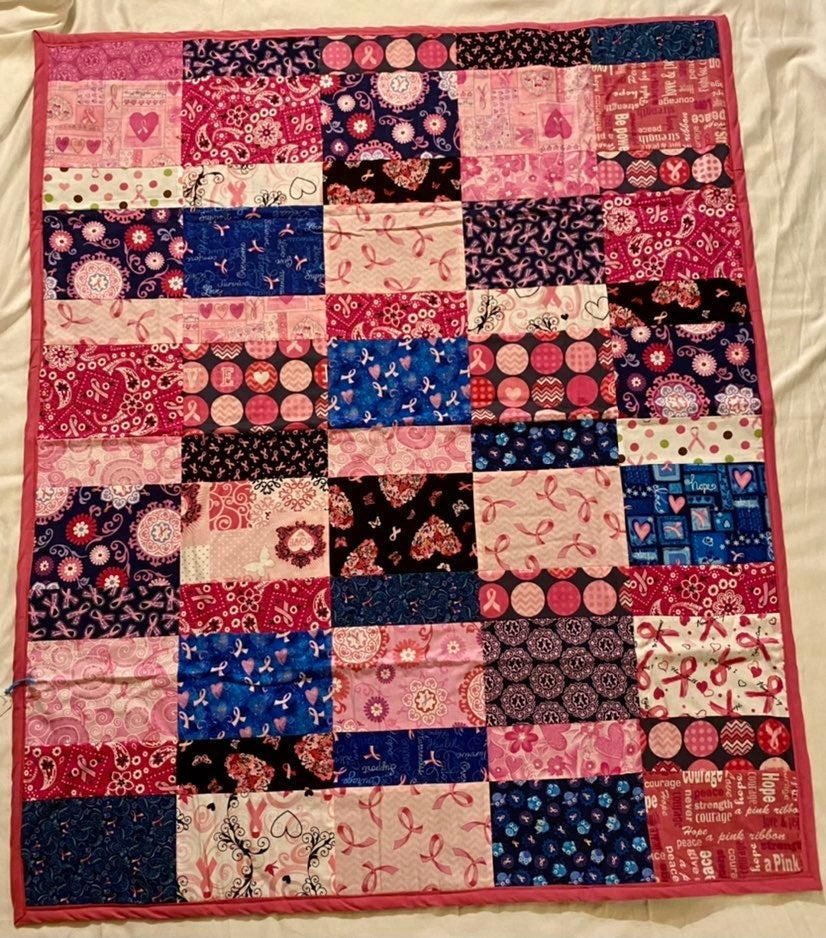 Breast Cancer Awareness Lap Quilt