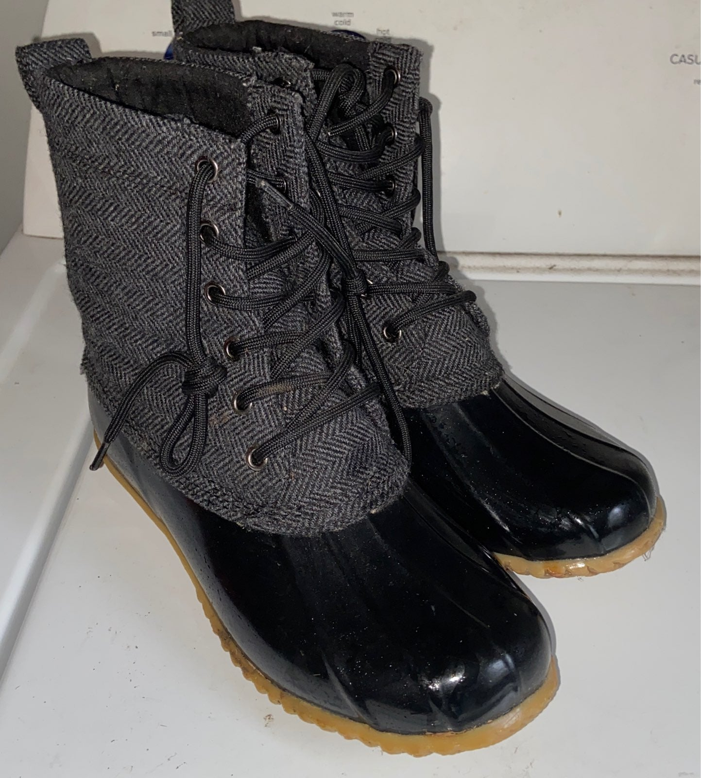 Bass quilted duck boots