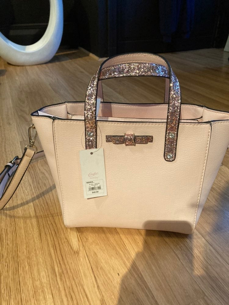Pink Glitter Tote Bag NWT