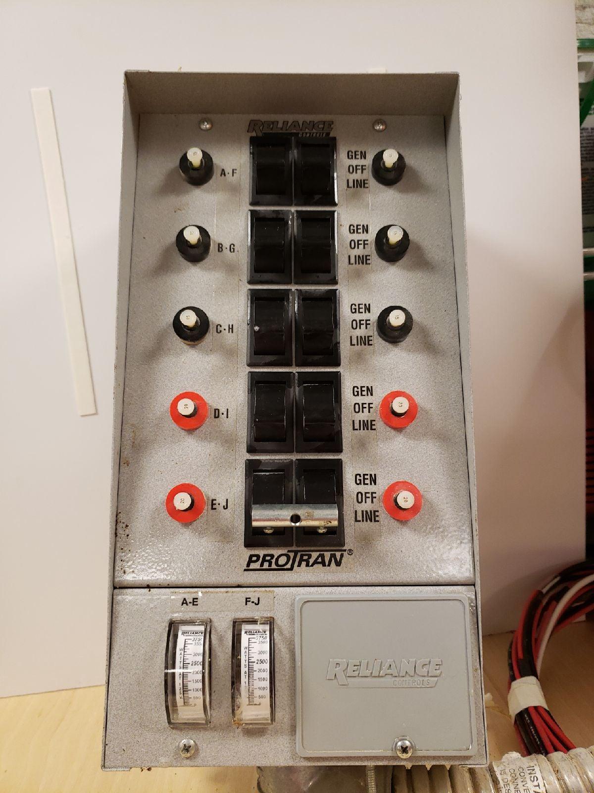 10 Circuit transfer switch