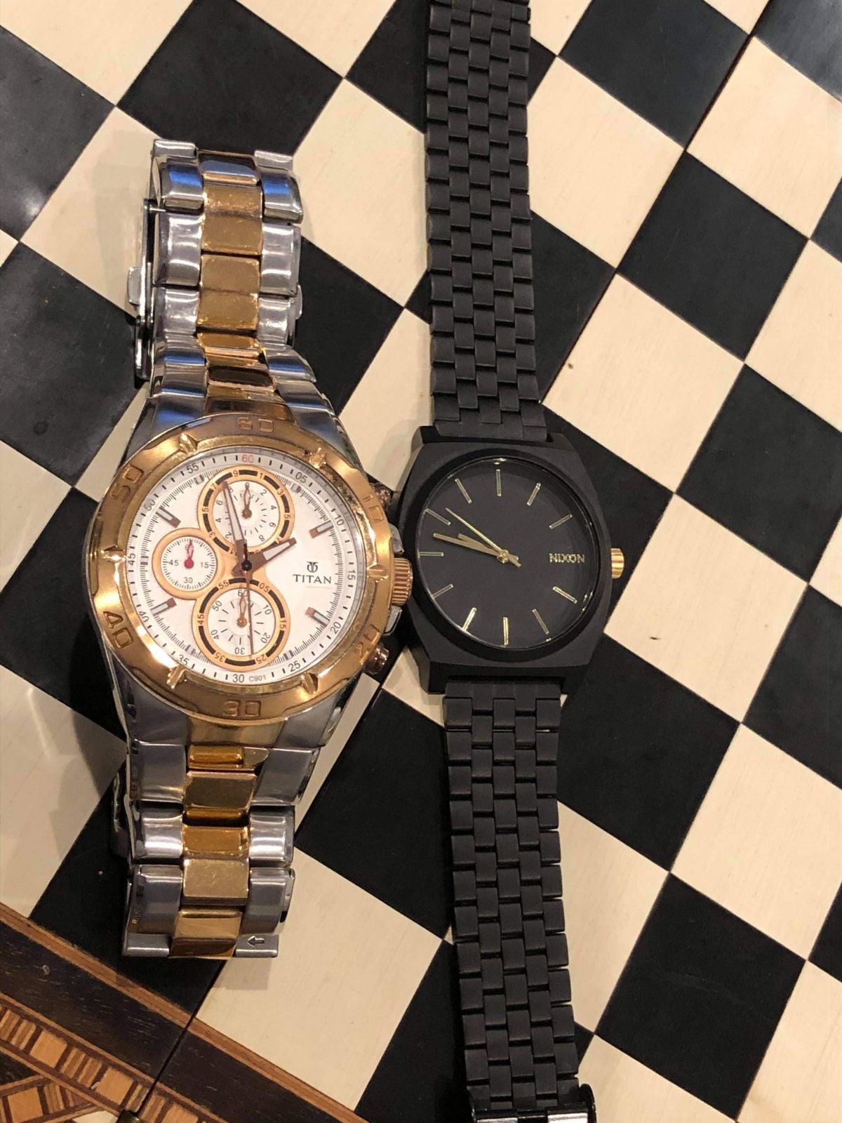 Classy Titan and Nixon Watch