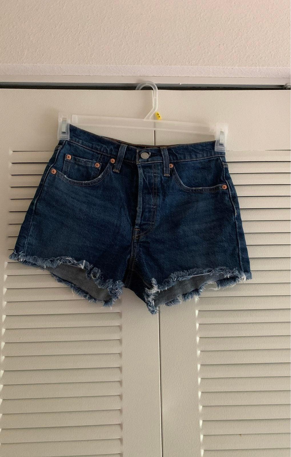Levi's 501 dark wash denim Shorts