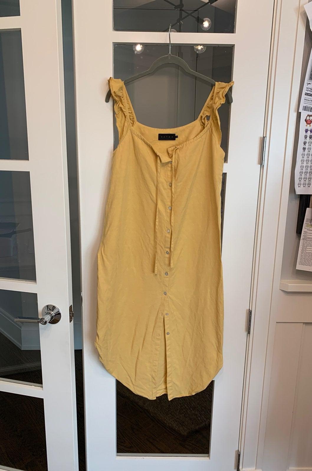 Hatch Yellow Dress, Size 0