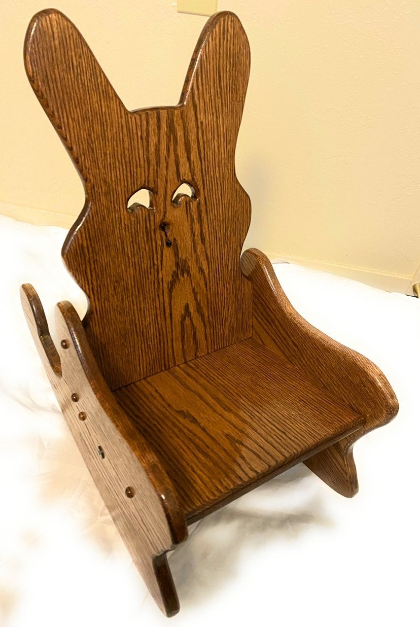 Handmade Toddler Rocking Bunny Chair