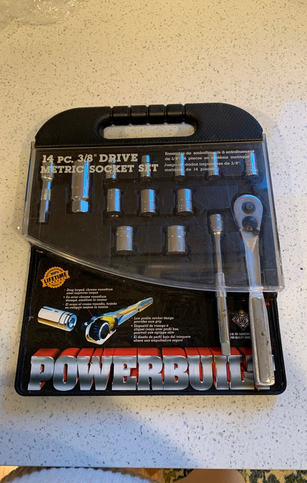Powerbuilt metric sicket set