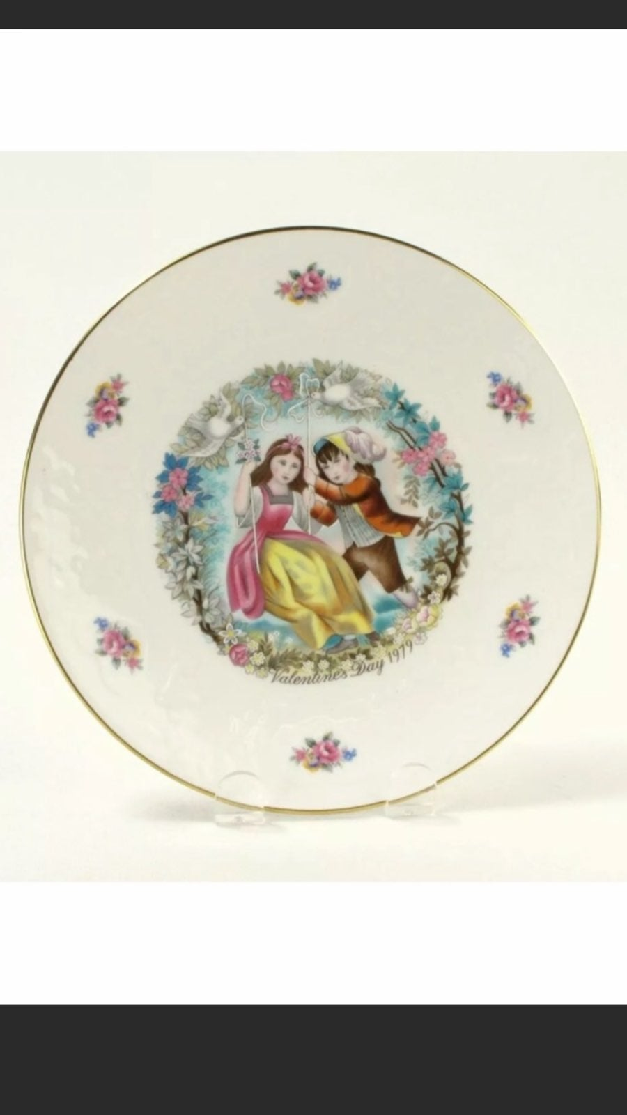 Lot of 2 My Valentine Collector Plates