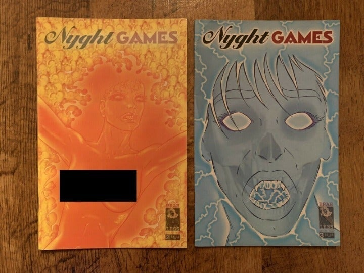NYGHT GAMES #2 3! 2 ISSUE LOT! MATURE!