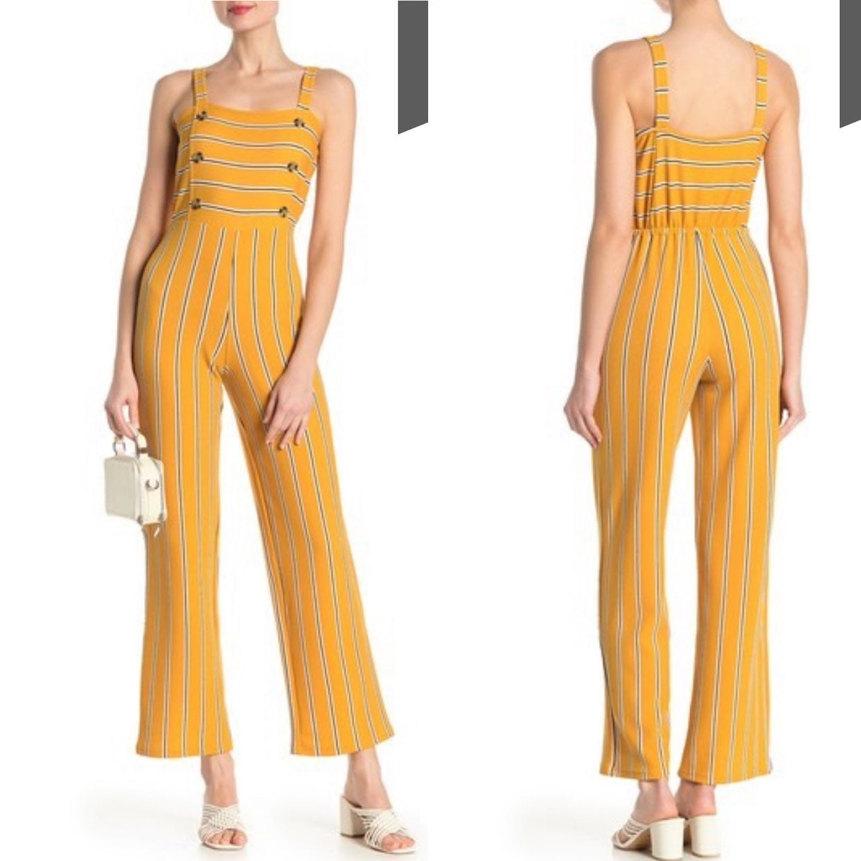 Planet Gold Sleeveless Jumpsuit Size M