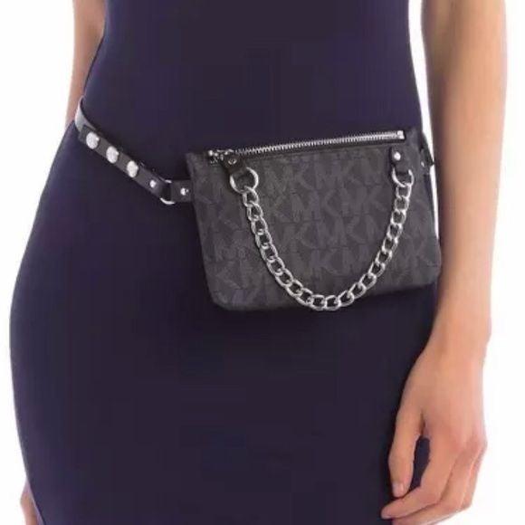 NWT Michael Kors Black Logo Belt Bag