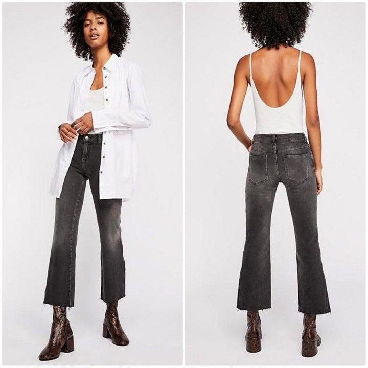 Free People Rita Crop Flare Denim Jeans