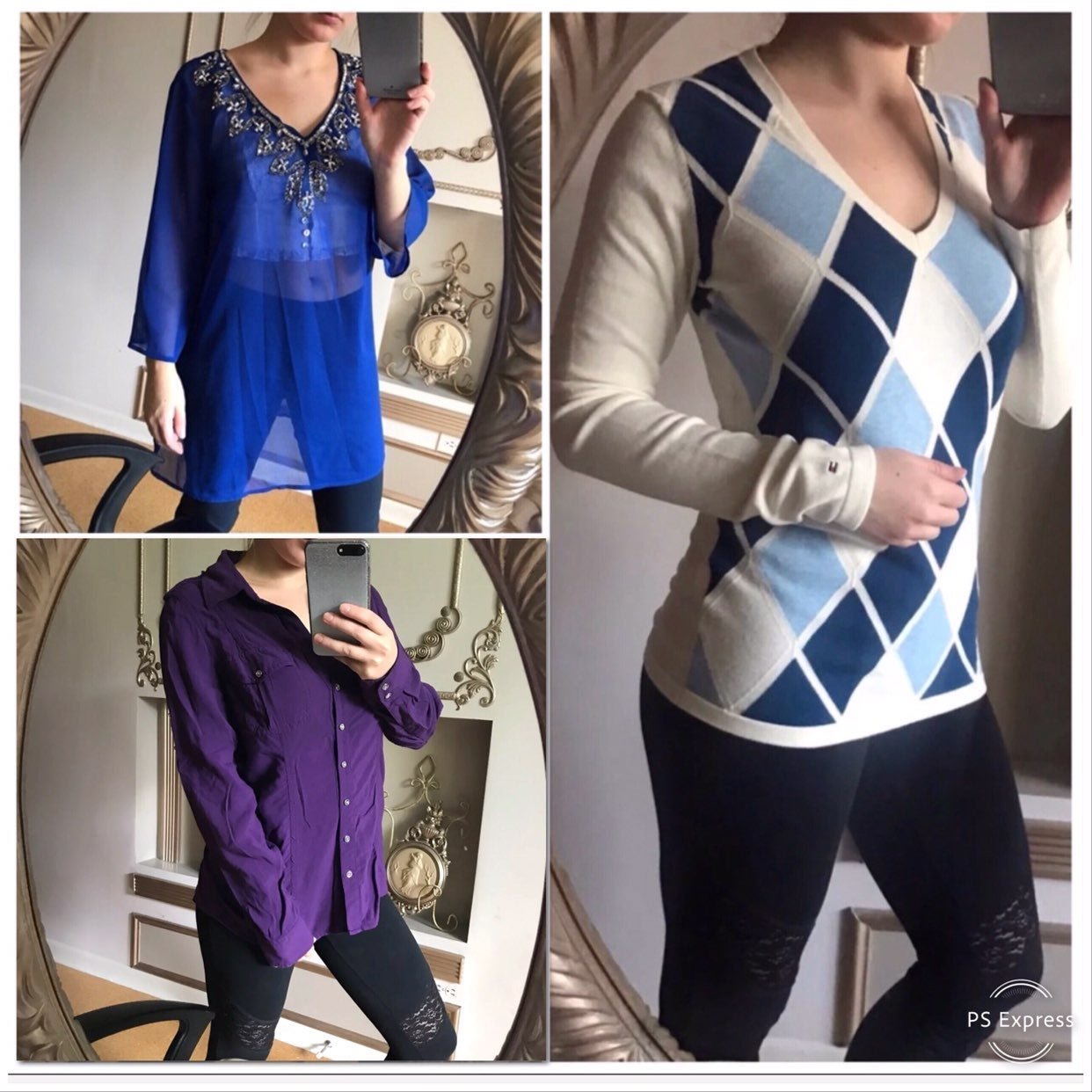 3 Tops tommy Hilfiger, NY&Co & Express S