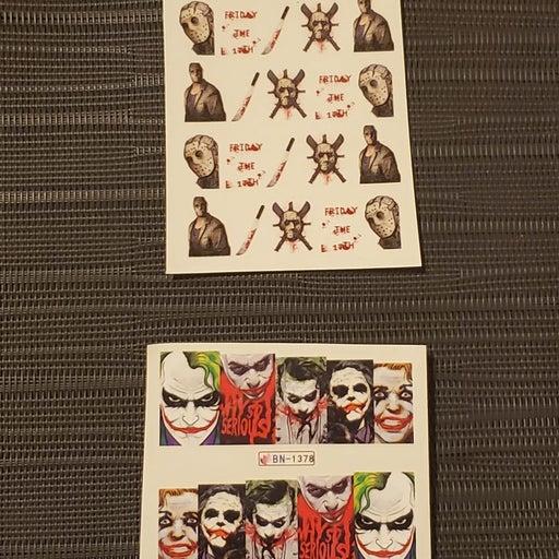 Friday the 13th & The Joker Nail Sticker