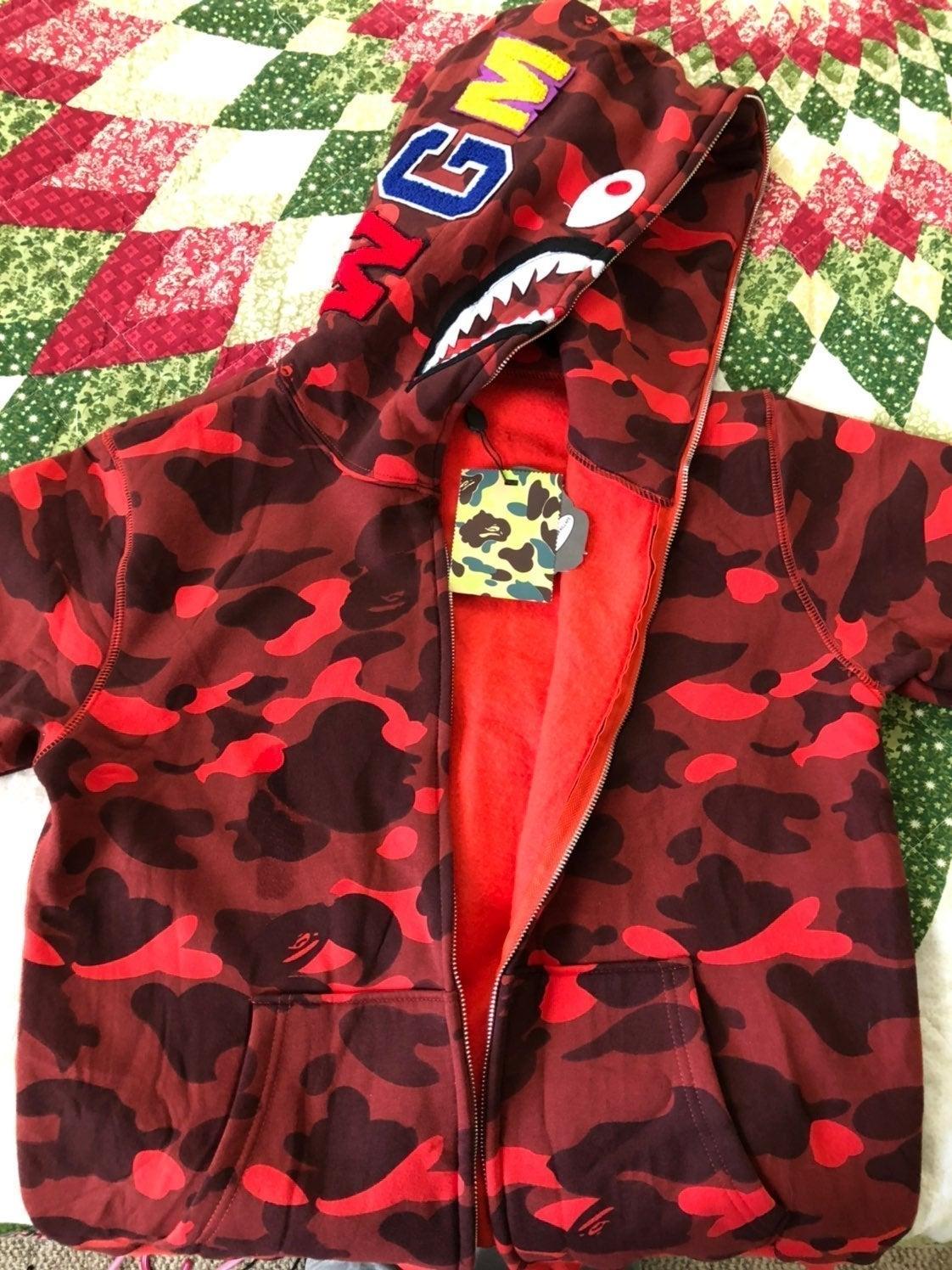A Bathing Ape Red Camo Jacket