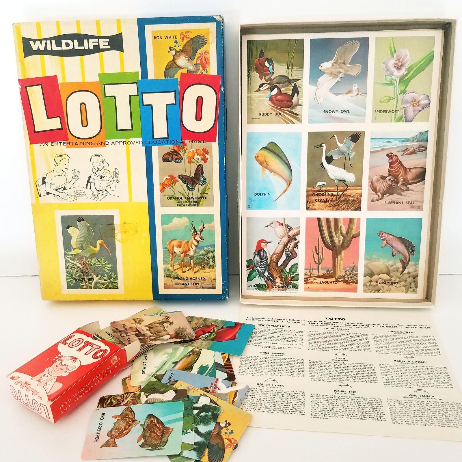 1952 Wildlife Lotto Game ..Complete
