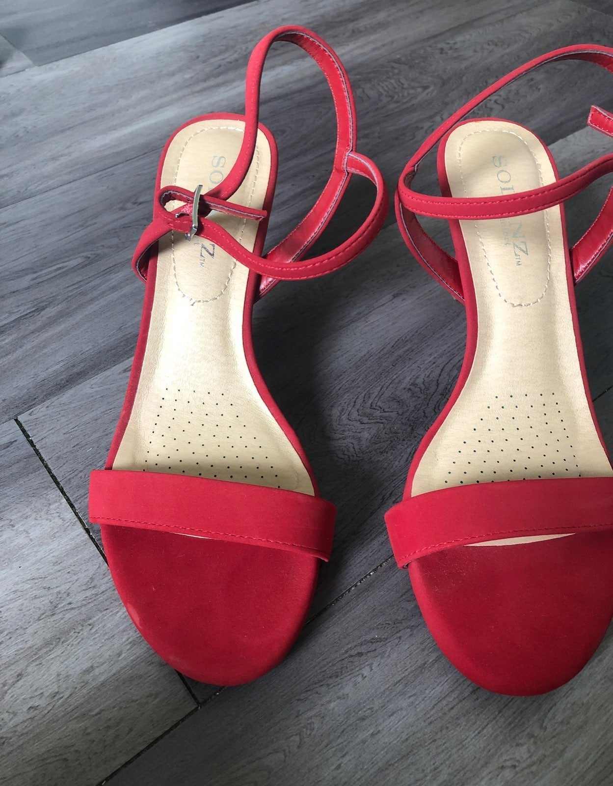 Red heels from solanz comfort