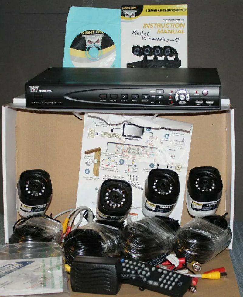 Cobra 8 channel security cameras