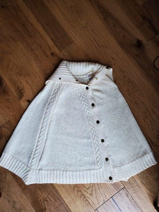 Talbot's Sweater poncho shawl L/XL-Ivory