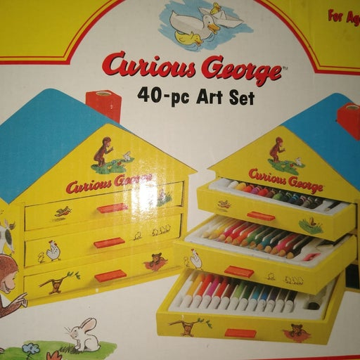 Curious George Art House. Complete w/evr