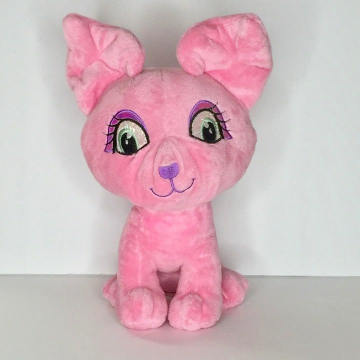 Pink Puppy Dog Plush Stuffed Animal 11""
