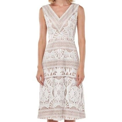 Kay Unger Priscilla Chemical Lace Dress